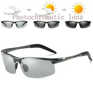e48f7301ba Image is loading Polarized-Photochromic-Sunglasses-Mens-Driving-Glasses- Pilot-Goggles-