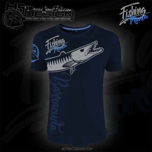 Angler-T-Shirt Angel-T-Shirt Hotspot Design T-shirt Barracuda Mania