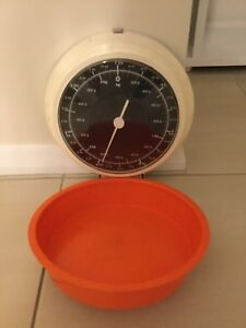 Vintage-Retro-1970s-Orange-Kitchen-Scales-Balance-De-Manage-European-Germany
