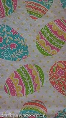 "Easter Eggs vinyl flannel back tablecloth 60"" Round"