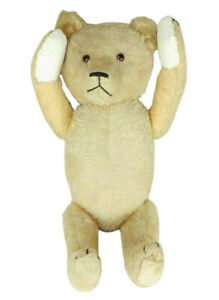 Fine-1930-039-s-Antique-21-034-Chad-Valley-Gold-Mohair-Teddy-Bear-Jointed-Glass-Eyes