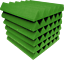 Green-Acoustic-Foam-48-Pack-12x12x2-Wedge-Professional-Studio-Soundproofing thumbnail 2