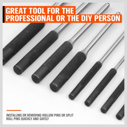 9pcs en acier trempé Roll Pin Punch armurier Craft Tool Set avec Organisateur Case