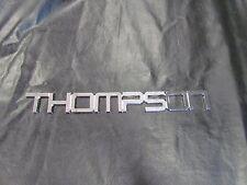 "THOMPSON CHROME RAISED SELF-ADHESIVE PLAQUE DECAL 19 1/8"" X 2 1/4"" MARINE BOAT"