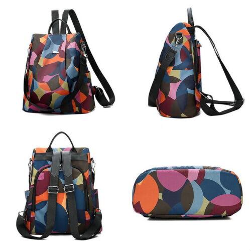 Women Lady Backpack Purse Anti-Theft Rucksack Waterproof Oxford Cloth School Bag