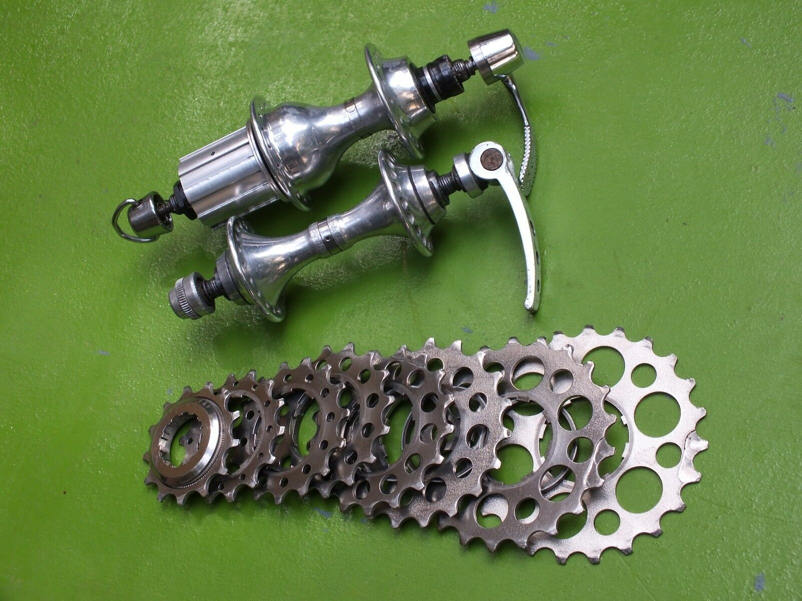 Titanium 8 speed Freehub & Campagnolo C Record Corsa Front Rear HUBs 32 36Hole
