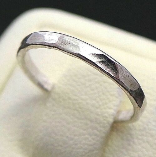 NEW 925 Sterling Silver Hammered Midi Band Stacking Knuckle Ring Sizes 3,3.5,4,5