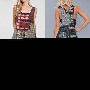Mode-Femme-Casual-Loose-Loisir-Sans-Manche-Imprime-Combinaison-Pantalons-Plus