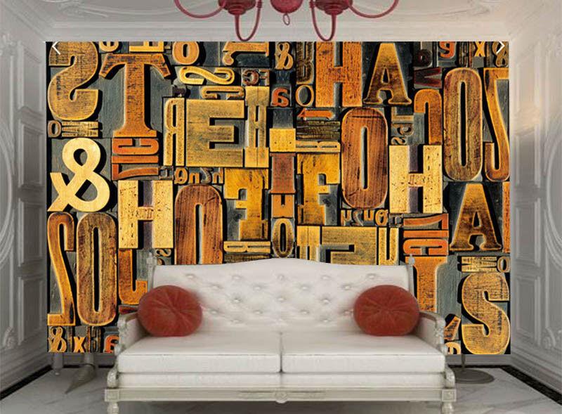 Wooden Fragrant Word 3D Full Wall Mural Photo Wallpaper Printing Home Kids Decor