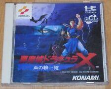 NEC PC Engine CD-ROM Castlevania Akumajo Dracula X Chi no Rondo From Japan