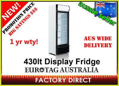 BRAND NEW 430LT COMMERCIAL DISPLAY DRINK FRIDGE $ PROMOTION PRICE ONLY 20 UNIT