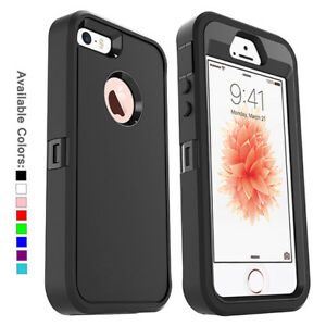 wholesale dealer 5a475 57505 Details about For Apple iPhone SE 5s 5 Case Cover w/ Belt Clip | Fits  Otterbox DEFENDER SERIES