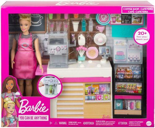 Barbie-Barbie Coffee Shop Playset avec poupée-Neuf