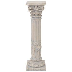 Saeule-fuer-Skulptur-Figur-Statue-massiv-Podest-Antik-Stil-Deko-Haus-amp-Garten