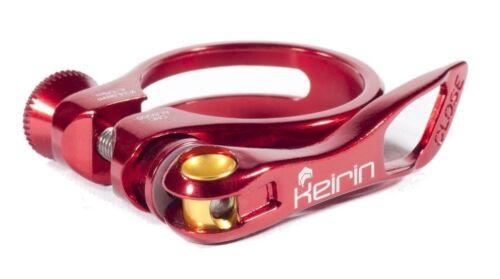 Nouveau cycle Keirin pince tige de selle-MTB /& Bike Road-libération rapide 31,8 mm Rouge