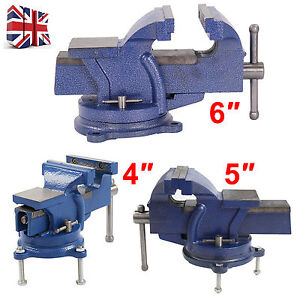 """6""""Heavy Duty Engineers Vice Vise Swivel Base Workshop Clamp Jaw Work Bench Table"""