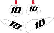 2009-2010 KTM 150SX Custom Pre-Printed White Backgrounds Black Numbers