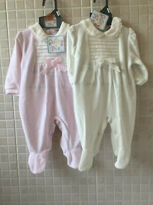 Baby Spanish Knitted Romper Pink Or White All in One 0-3 3-6 6-9 9-12 Mth