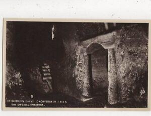 St-Clements-Caves-Hastings-The-Original-Entrance-Vintage-RP-Postcard-857a