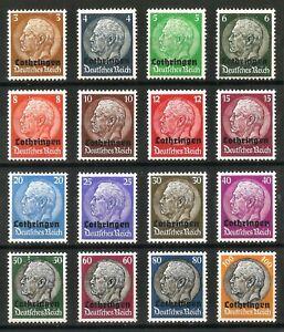 DR-Nazi-3d-Reich-Rare-WW2-Stamp-Hindenburg-Medalion-Lothringen-Overprint-Classic
