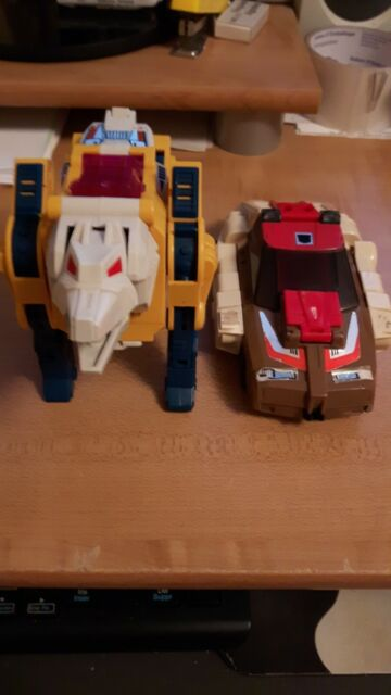 1987 Vintage Hasbro G1 Transformers Headmaster lot Weirdwolf/Chromedome