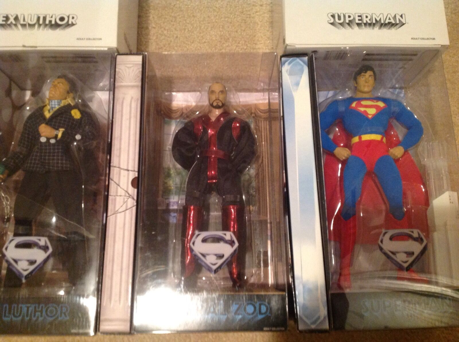 Lot Of 3 Superman, General Zod And Lex Luthor Brand New