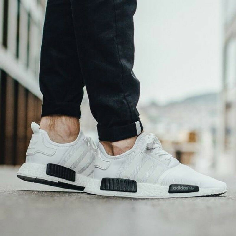 Adidas NMD Boost Blanc Taille UK 6.5 Eur 40 US 7 BNWT P/C Bb1968-