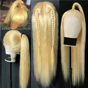 100-Real-Remy-Indian-Human-Hair-Wigs-360-Lace-Front-Wig-Blonde-Wavy-Pre-Plucked