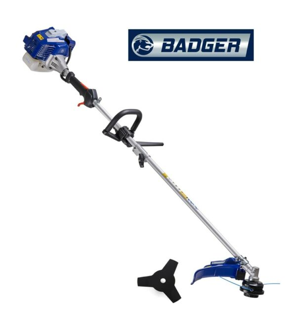 Badger 26 cc Full Crank, 2-Cycle 2-in-1 Straight Shaft Trimmer & Bonus Harness