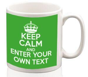 Keep-Calm-Personalised-Mug-Coffee-tea-cup-ideal-gift-custom-writing-or-name