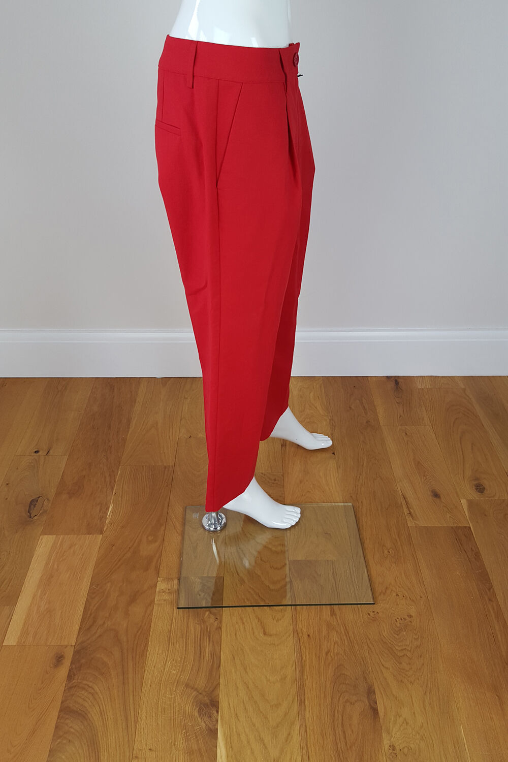 LOVE MOSCHINO CHERRY CHERRY CHERRY rot CAPRI TROUSERS (UK 10) 56c7a9