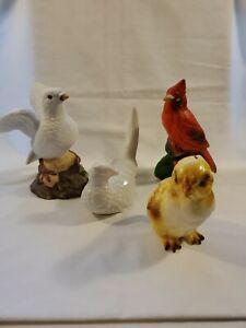 Vintage Porcelain Bird Figurines Lot Of 4
