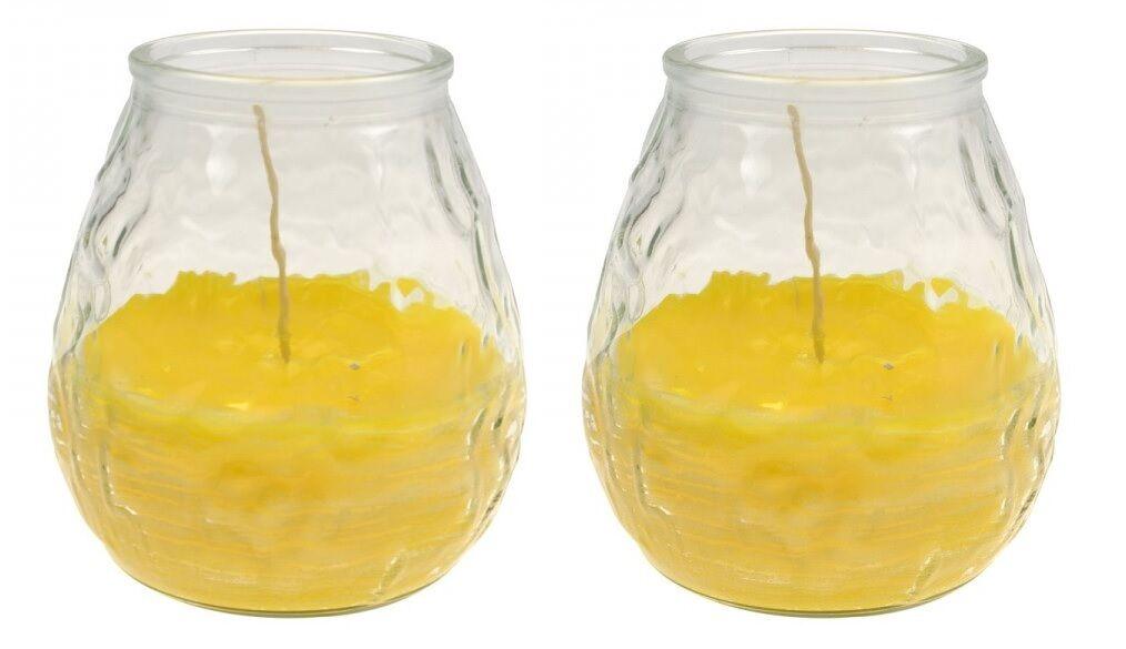Anti-insetti-candele in vetro decorativo CANDELE CITRONELLA CONTRO ZANZARE 2er Set
