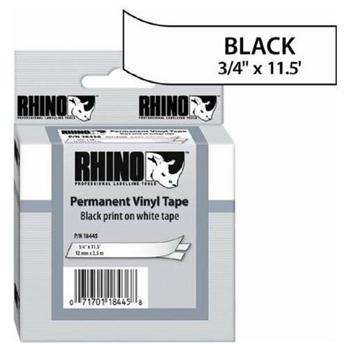 """Dymo 18445 Rhino Metalized 3//4/"""" Label Roll for sale online"""