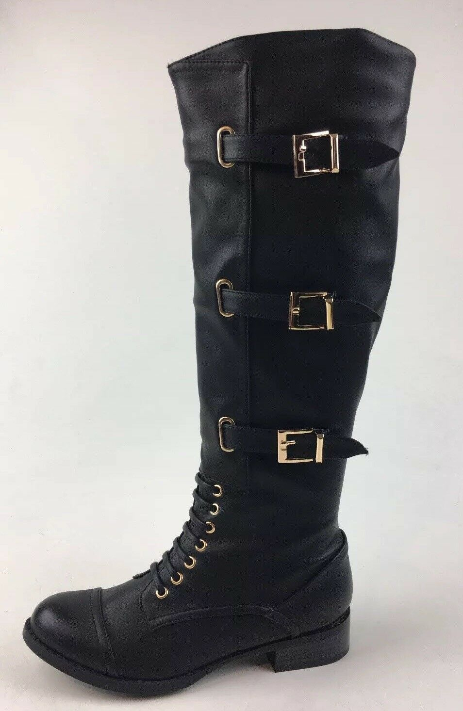 N.Y.L.A Women's Adrina Knee High Boots Size 7, Black 1226