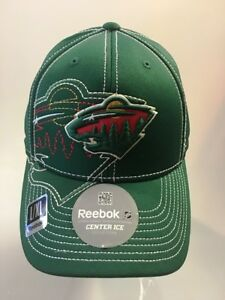 Minnesota Wild NHL Hockey Cap Green Reebok Sideline Hat Fitted L XL ... dd7716300
