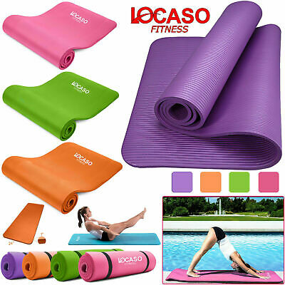 Yoga Mat 10mm Thick for Pilates Gym Exercise Home Gym Physio Fitnes Carry Strap