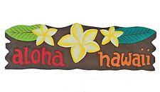 Aloha Hawaii Schild im Tiki Style Mauii Kauii Südsee Lounge Spa Feng Shui