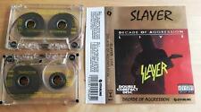 SLAYER - Decade Of Aggression Live 2xMC RARE POLISH PRESS 1991