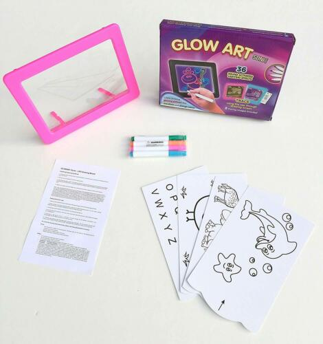 Glow Art Sonic Neon Effect Pink Sound Activated Drawing Board