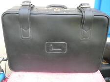 valise Lancel  vintage simili cuir noir