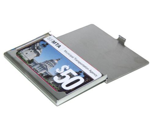 Stainless Steel RFID Blocking Credit Card Holder for Men /& Women Wallet  Case