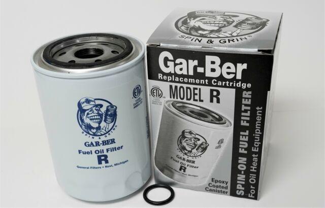Gar-Ber Model R Spin On Furnace Fuel Oil Filter Epoxy Coated Garber  Cartridge for sale onlineeBay