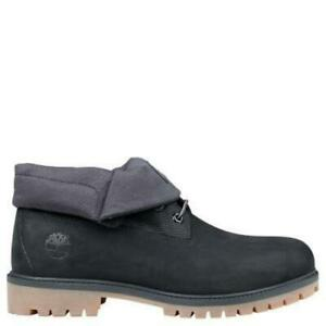 0bf2c6b3208 Details about Timberland Men's Heritage Black Roll Top Ankle Boots  TB0A1S5P001