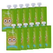 Mommy Yummy Squeeze Reusable,Dishwasherable Baby Food Pouches 6pk Made in Korea.