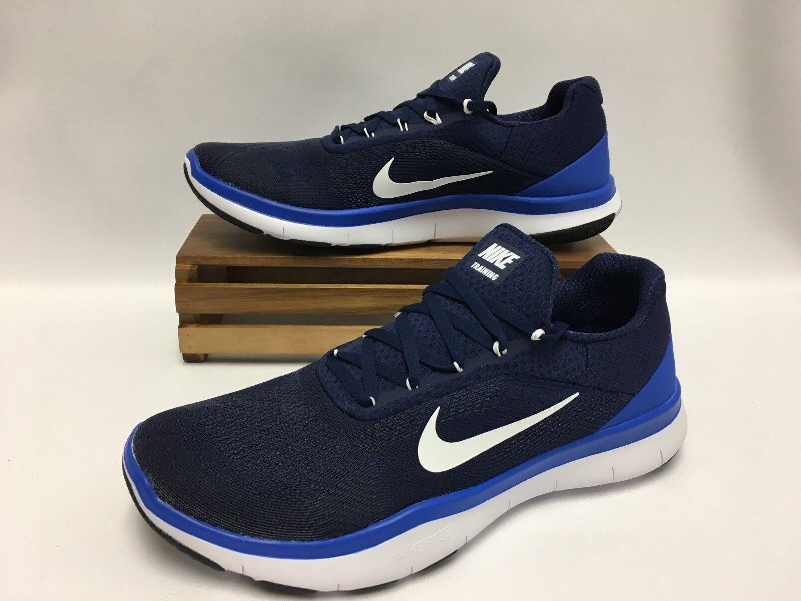 Nike Free Trainer V7  Training Shoes Navy Blue White 898053-400 Men's NEW