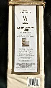 Image Is Loading Nip Wamsutta King Flat Sheet Supima Supreme Luxury