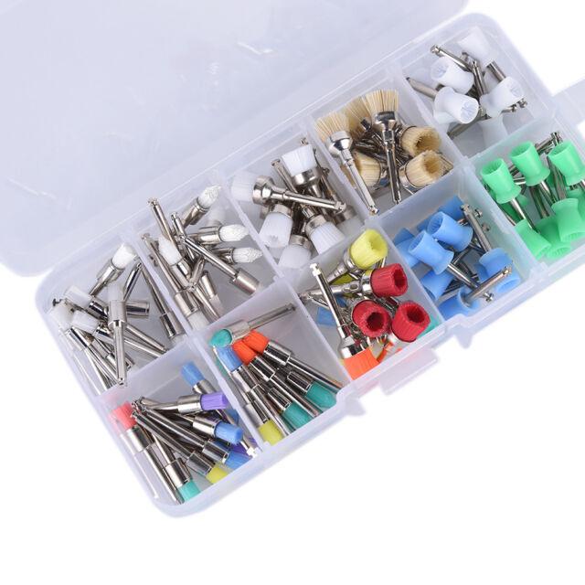 10 Mixed Types Disposable 100 PCS Dental Prophy Brush Cup Polishing Polisher HU