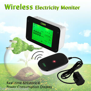 Wireless Smart Electricity Power Meter Home Electric Energy Monitor Analyzer New