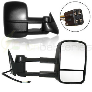 Power Side View Towing Mirrors Pair Set For 88 98 Chevy